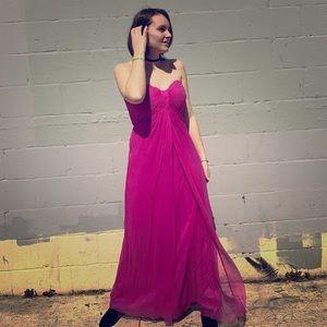 Tadashi Shoji size 10 fuchsia pink chiffon gown
